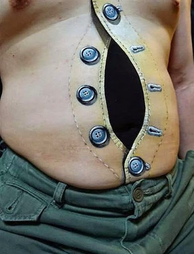 Bulging Belly Buttons tattoo